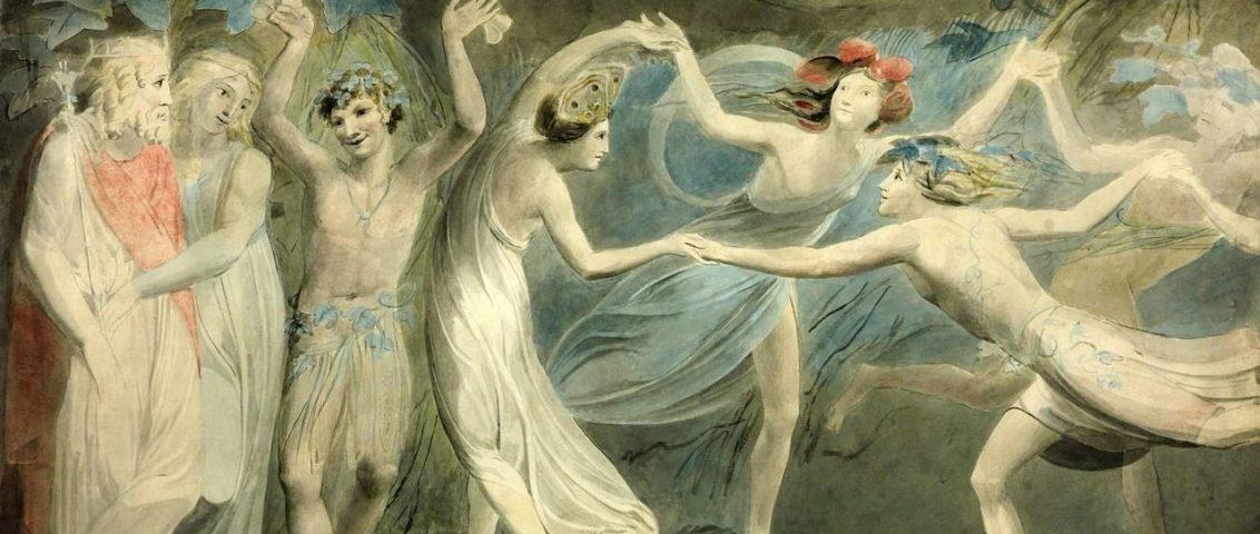 2. Oberon, Titania y Puck con hadas bailando. William Blake.